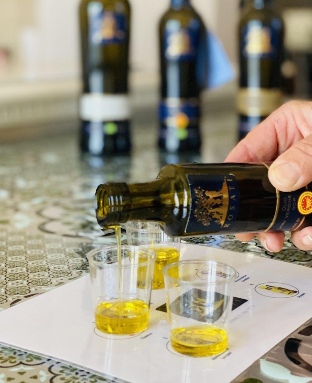Degustation von Olivenöl