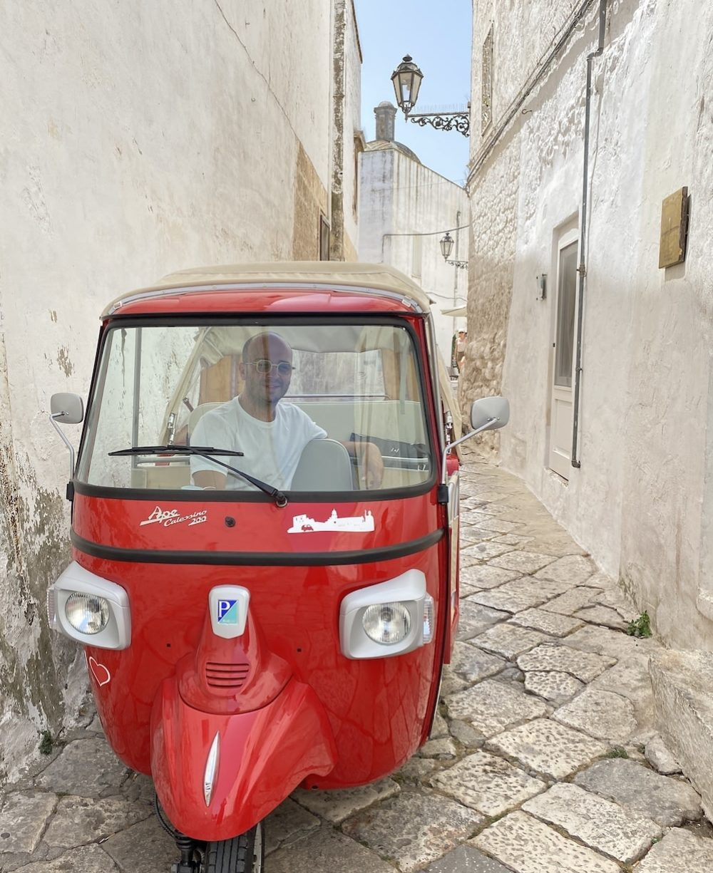 A Tour with a special taxi